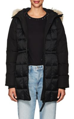 96a75542ddb6 Canada Goose Beechwood Fur-Trimmed Down-Quilted Parka In Black ...