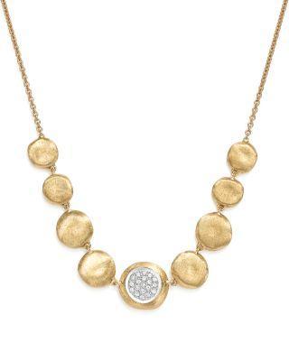 Marco Bicego 18k White & Yellow Gold Diamond Jaipur Small Bead Necklace, 18