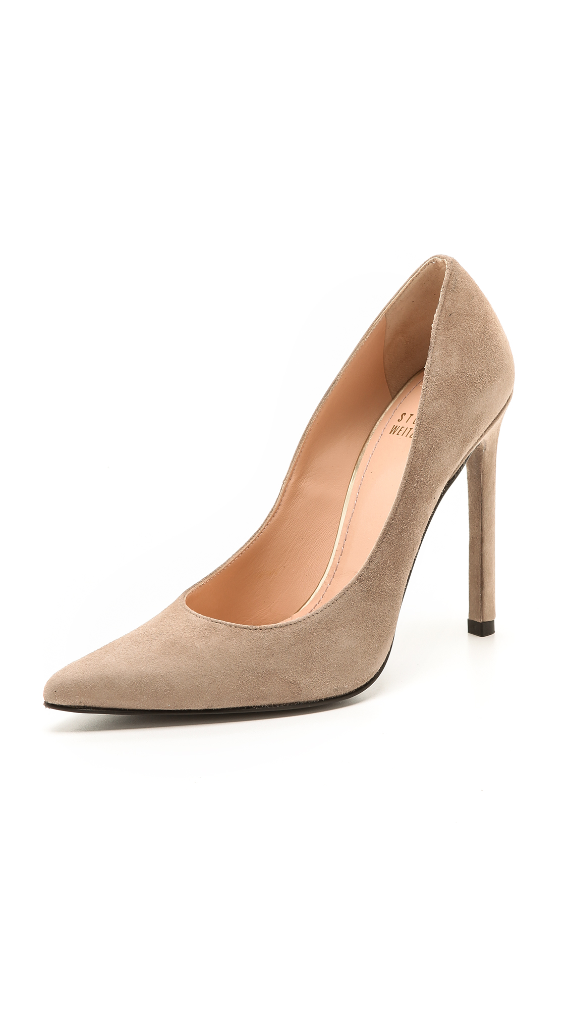 Stuart Weitzman Queen 110Mm Suede Pumps In Haze
