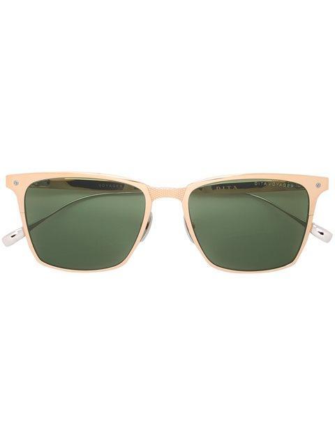 Dita Eyewear Square Frame Sunglasses In Metallic