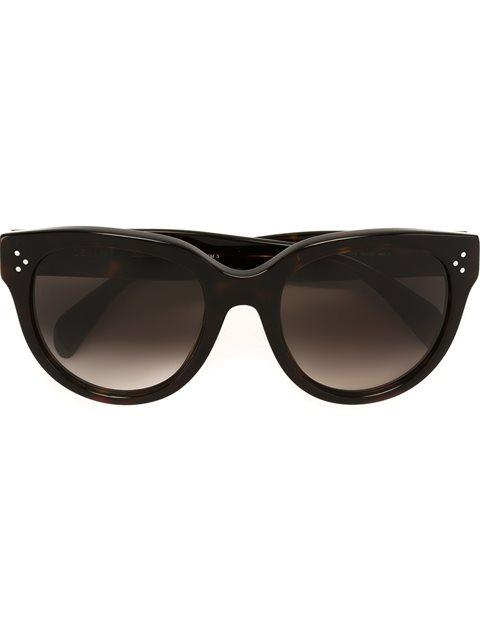 Celine CÉline Eyewear Tortoiseshell Cat Eye Sunglasses - Brown