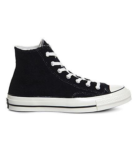 Converse All Star 70 High-Top Canvas Trainers In Black Egret