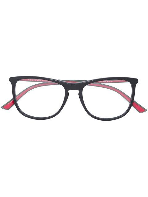 Gucci Eyewear Square Frame Glasses - Black