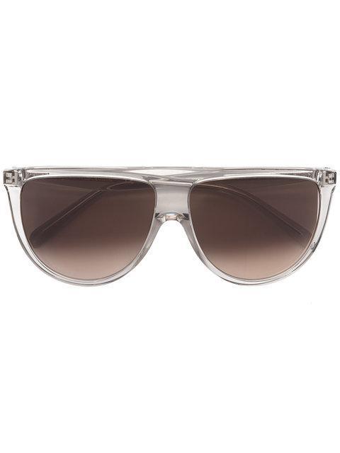 Celine Eyewear Rechteckige Sonnenbrille - Grau