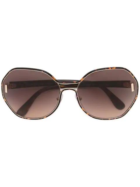 Prada Eyewear Oversized Sunglasses - Black