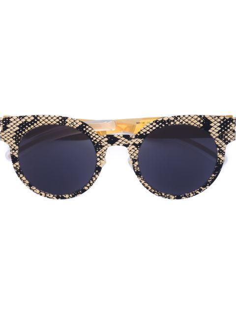 Mykita Sonnenbrille Mit Schlangenledereffekt