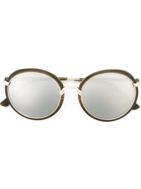 Dries Van Noten Linda Farrow Contrast Frame Sunglasses
