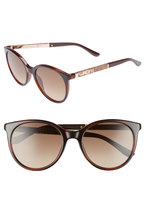 18baf96a7ee0 Jimmy Choo Erie 54Mm Gradient Round Sunglasses - Havana Brown