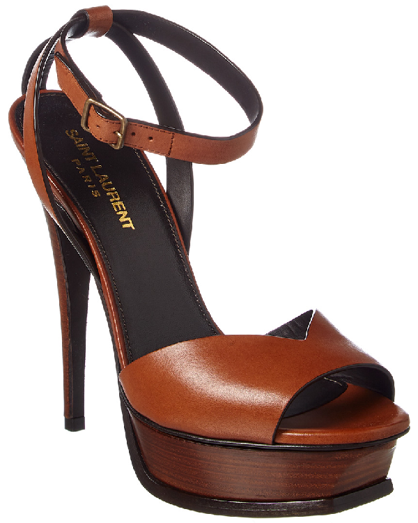 a4148d7208 Tribute Lips Sandals In Smooth Leather in Brown