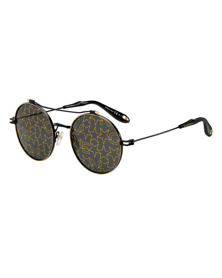 8a9f2ae7cb5a Givenchy Women's Mirrored Round Sunglasses, 53Mm In Black Pattern ...