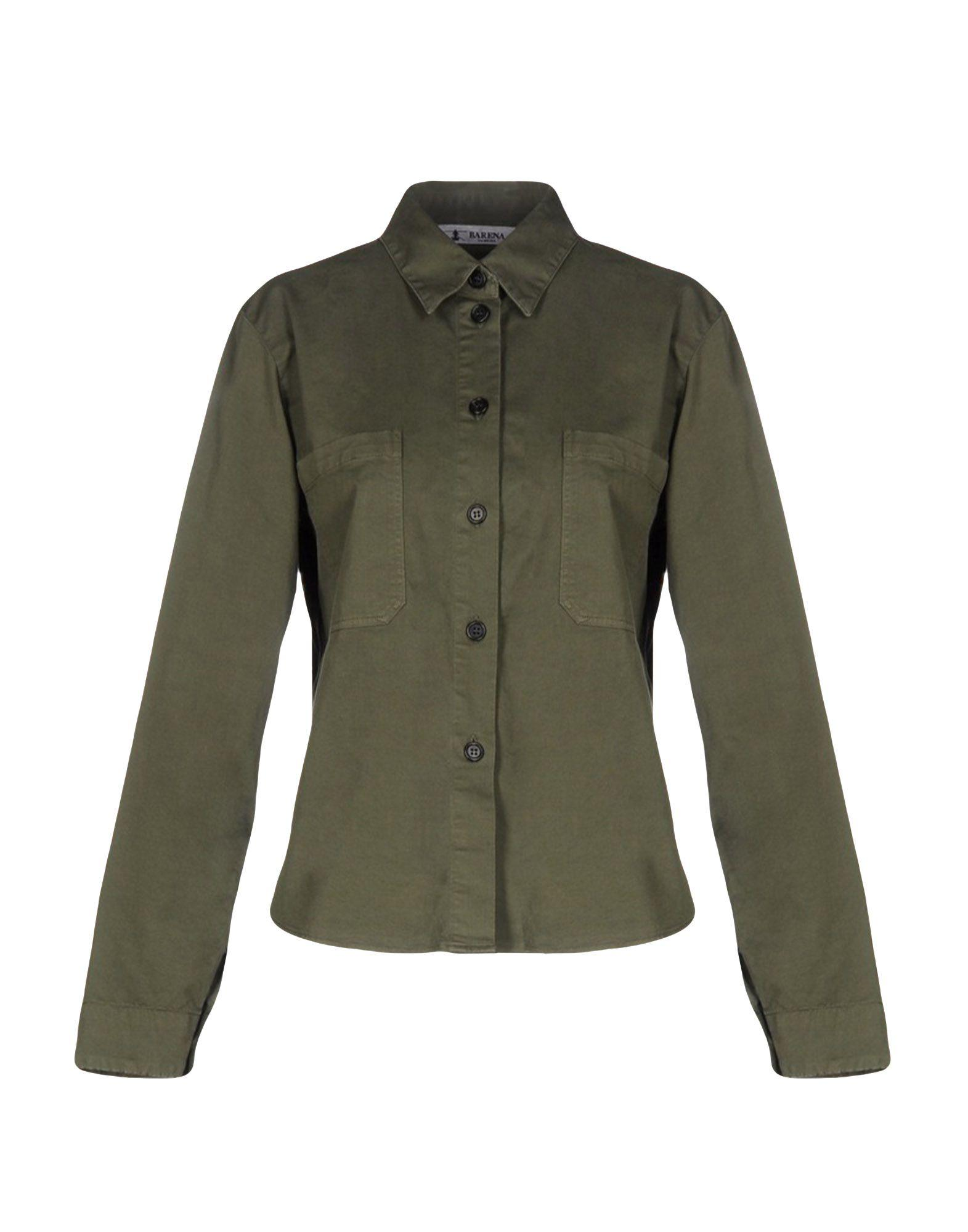 Barena Venezia Solid Color Shirts & Blouses In Military Green