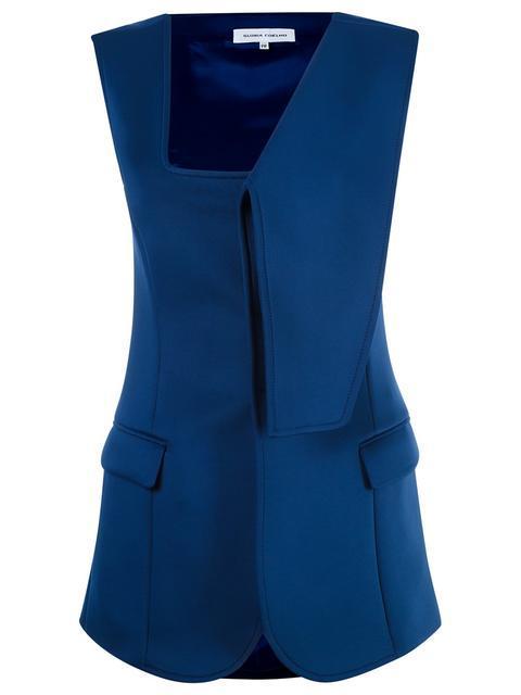 Gloria Coelho Asymmetric Vest In Blue