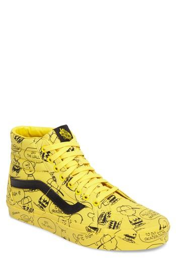 4b8879f4a6 Vans X Peanuts Sk8-Hi Reissue Sneaker In Maize Canvas