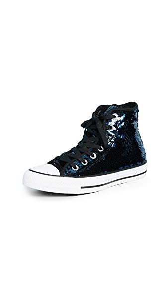 Chuck Taylor All Star Sequins High Top Sneakers In Midnight Sequins