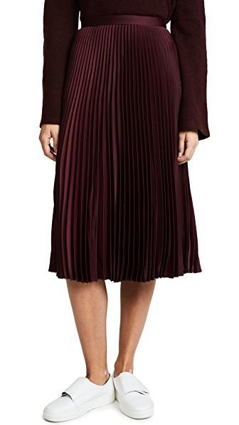 b8de8c66a3 Club Monaco Annina Skirt In Pomegranate   ModeSens