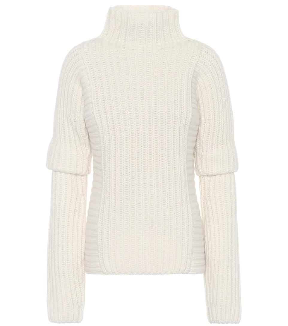Victoria Beckham Alpaca And Wool Sweater In White