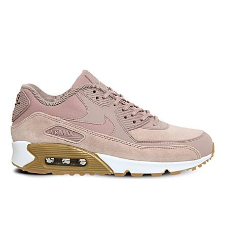 buy online 89ffa c8e34 Air Max 90 Leather And Mesh Trainers in Particle Pink Gum