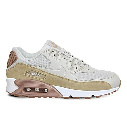 the best attitude 4233b 4f6e1 Nike Air Max 90 Leather And Mesh Trainers In Light Bone Mushroom