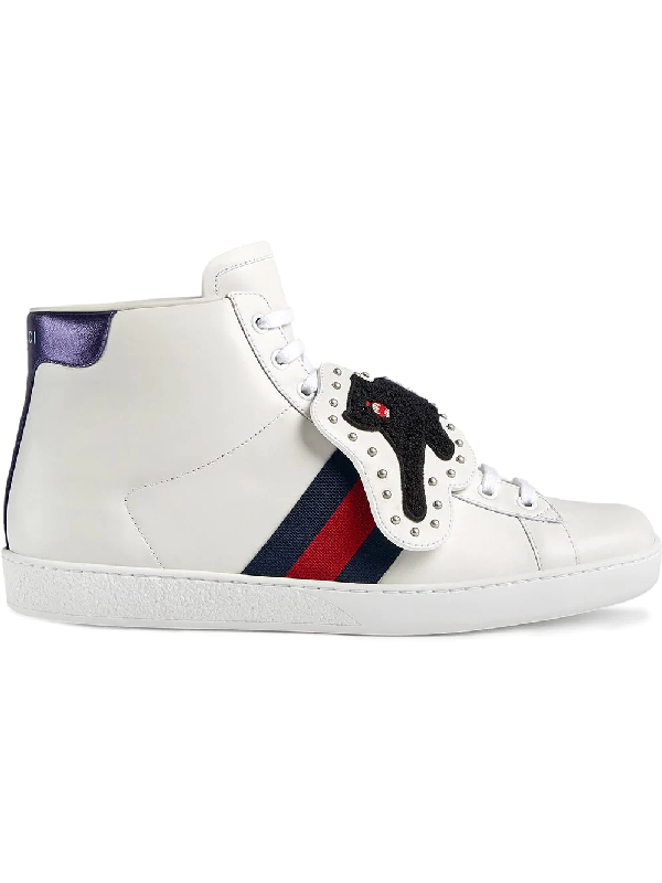 cef2b447558 Gucci Ace Sneakers With Removable Patches In White