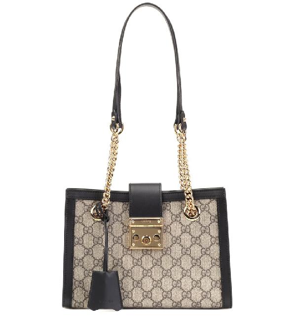5a9f38b12a0 Gucci Padlock Small Gg Supreme Canvas Shoulder Bag In Brown