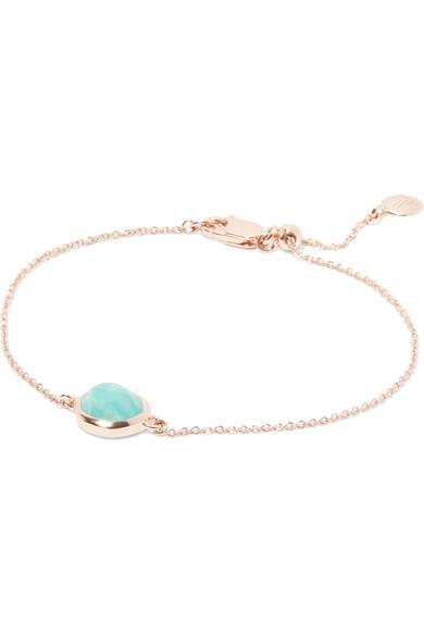 5aaea1c331f7be Monica Vinader Siren Rose Gold Vermeil Amazonite Bracelet | ModeSens