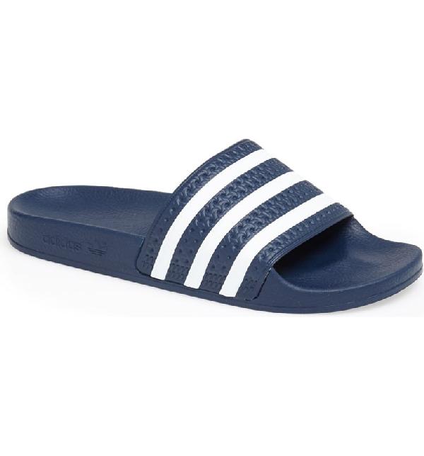 ec3f7093244c Adidas Originals  Adilette  Slide Sandal In New Navy  White