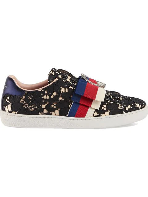 Gucci New Ace Lace Sneakers - Black