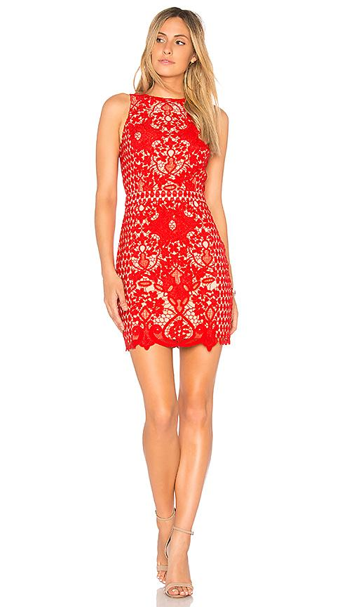 848e208ac804 Endless Rose X Revolve High Neck Floral Crochet Dress In Red
