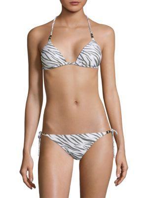 Heidi Klein Kalahari Bamboo Rope Padded Triangle Bikini Top In Multi