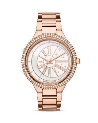 Michael Kors Taryn Celestial Rose-Golden Bracelet Watch In Rose Gold