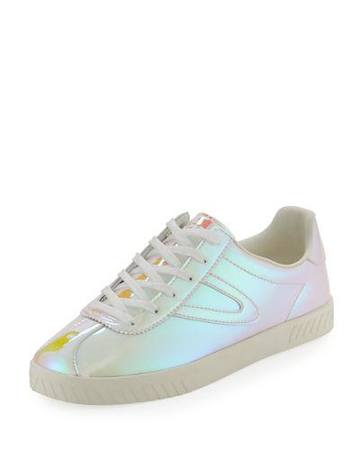 9f687cad4bb2 Tretorn Camden Iridescent Low-Top Sneakers In Yellow Pink
