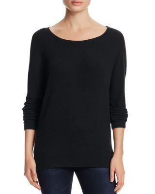 Cupcakes And Cashmere Chey Dolman Sleeve Sweatshirt In Black