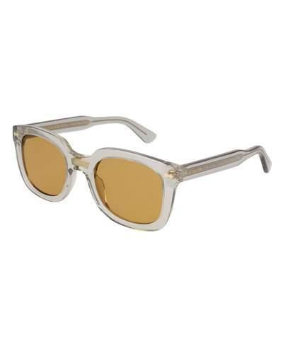 537a6ea20708 Gucci 50Mm Square Sunglasses - Transparent Grey   ModeSens