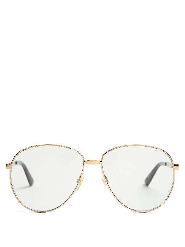 b1b31f25ae0 Gucci Unisex Universal Fit Round Metal Sunglasses