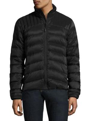 Canada Goose Men's Brookvale Quilted Hoodie Puffer Jacket In Black