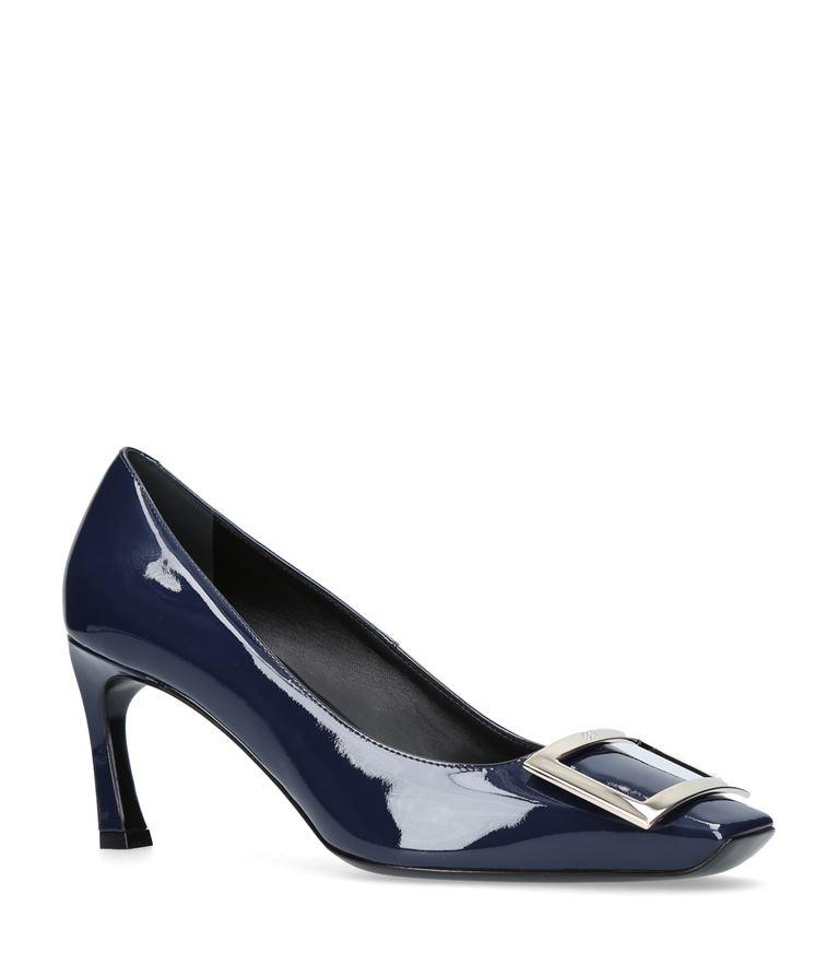 5dc492160 Roger Vivier Belle Vivier Trompette Pumps In Patent Leather In Navy ...