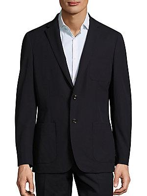 Michael Kors Slim-Fit Trop Wool Blazer In Midnight