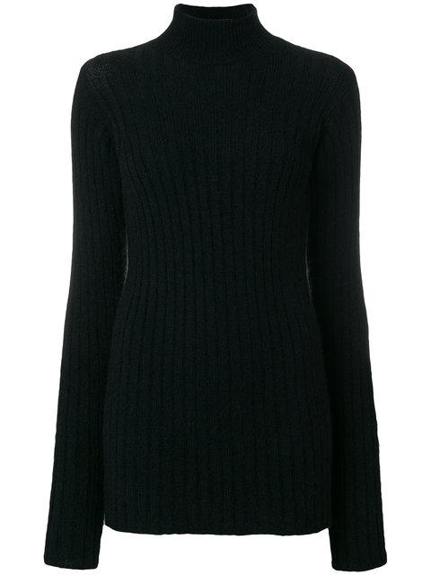 523e33e0862 BALMAIN. Balmain Ribbed Turtleneck Sweater - Black