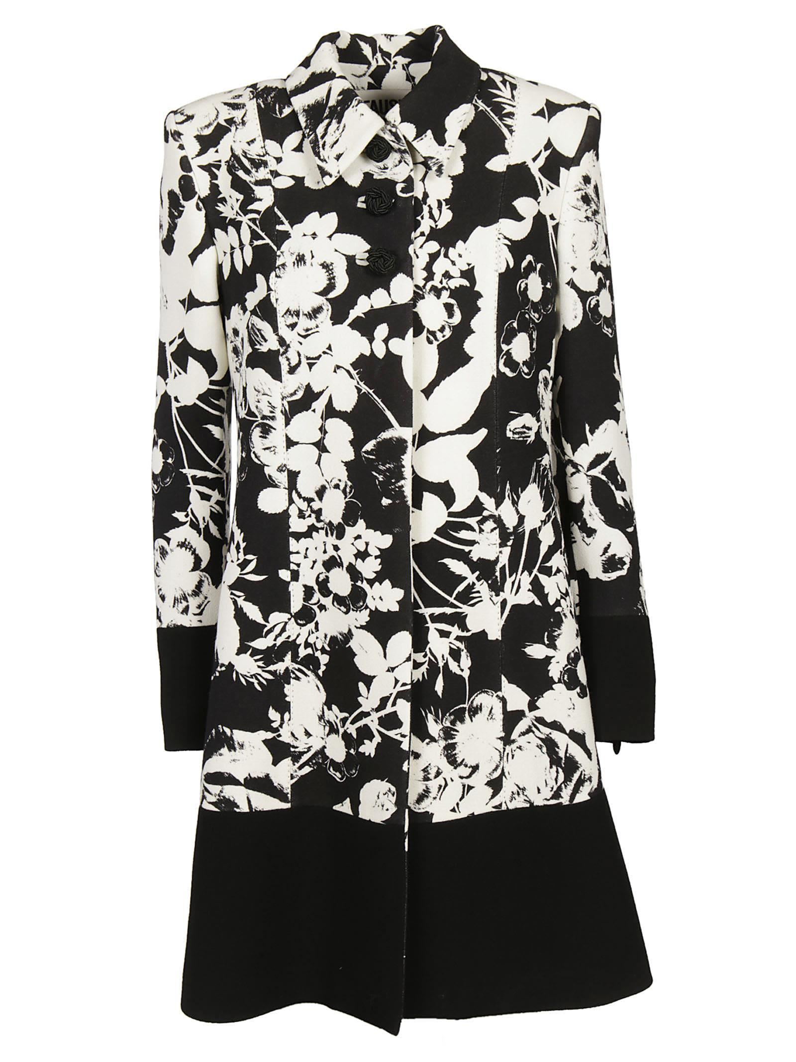 Fausto Puglisi Floral Embroidered Coat In White