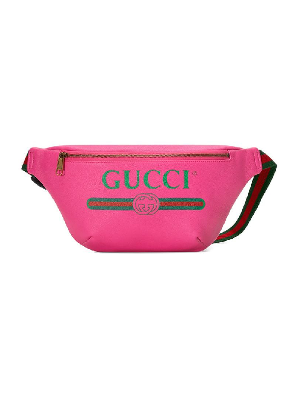 0d0c095109fe40 Gucci Pink Leather Logo Fanny Pack In 8842 | ModeSens