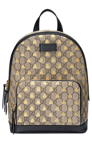d4ebc4f14e4d Gucci Men's Gg Supreme Bee-Print Backpack, Brown Pattern In 8319 ...