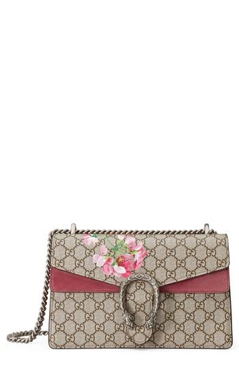 f39a1be0eac Gucci Small Dionysus Floral Gg Supreme Canvas Shoulder Bag - Beige In Beige  Ebony  Dry