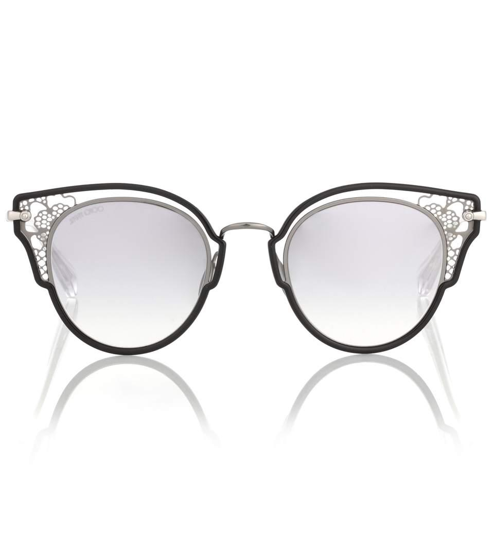 508e7c3c5a Jimmy Choo Dhelia Butterfly Sunglasses In Black   ModeSens