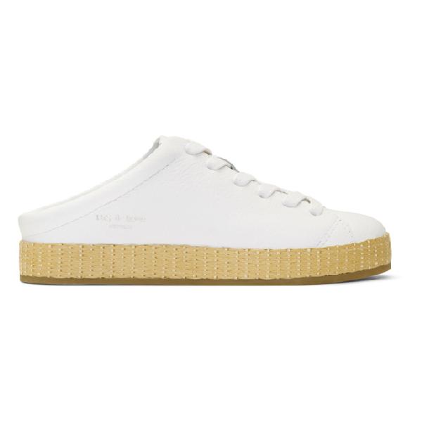 263b4ff24b0fa Rag & Bone Rb1 Leather Slide Sneaker Mules In White | ModeSens