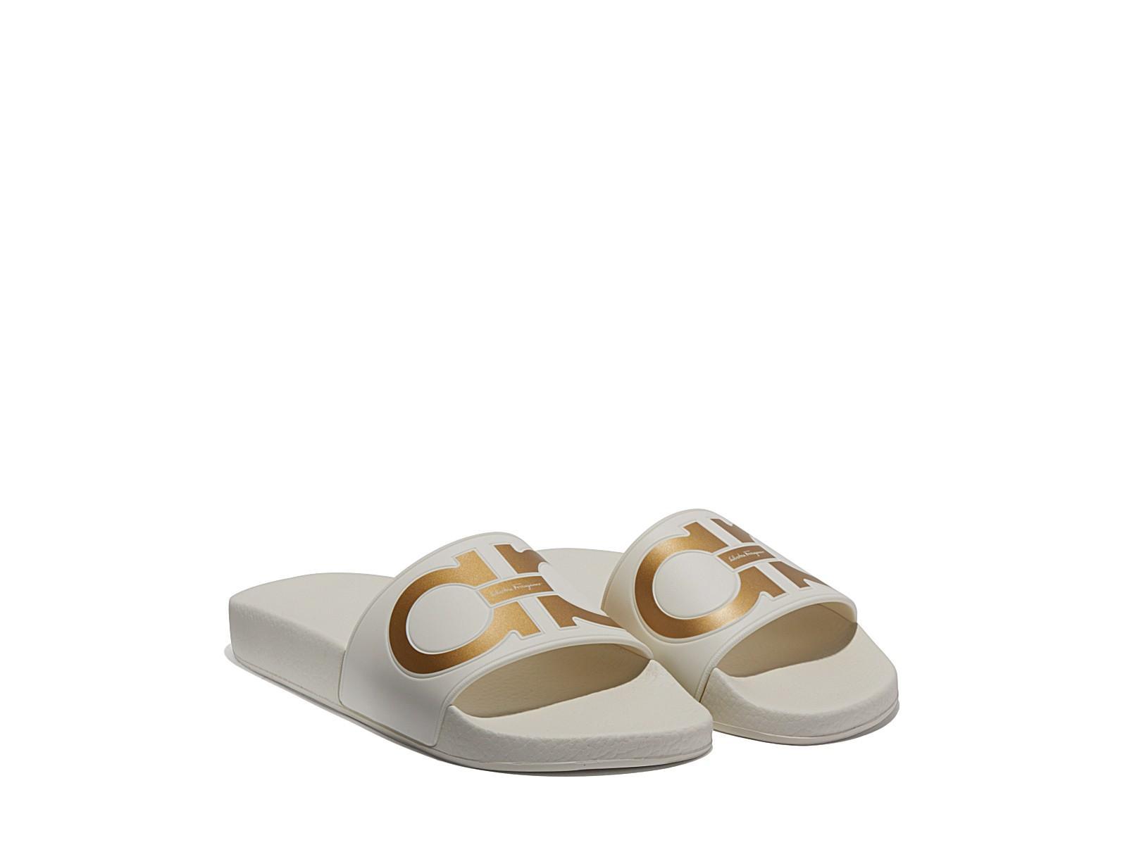 bc9c3c1647a3aa SALVATORE FERRAGAMO. Groove Gancini Flat Slide Sandal