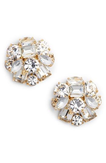 f2ce6aa49b637 Kate Spade Cluster Stud Earrings In Clear  Gold