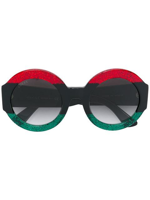 Gucci Round Frame Sunglasses In Red