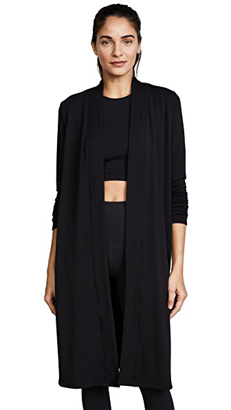 ec6ab4cd02 Beyond Yoga High Slits Long Duster Cardigan In Black | ModeSens