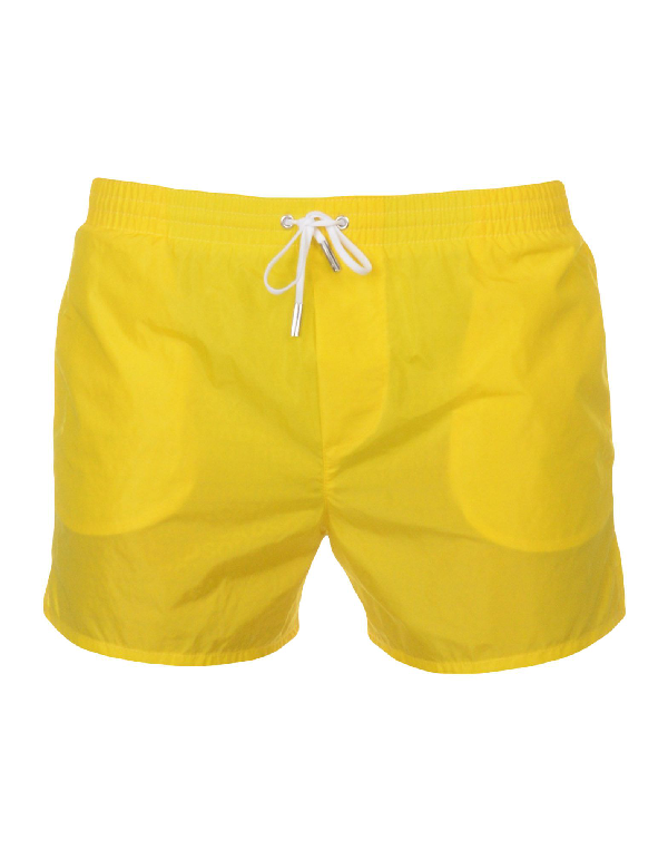 Dsquared2 Swim Shorts In Yellow
