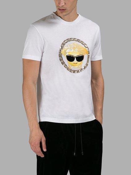 d152ccb7 Versace Medusa Emoji Cotton-Jersey T-Shirt In Brilliant White   ModeSens